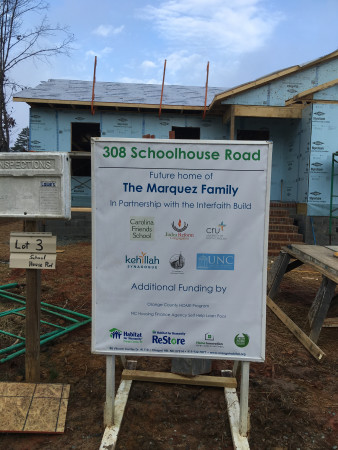 Partnership to build a home for the Marquez family.